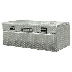 Tradesman Boîte à outils affleurante de 56 pouces pour camionnette, intermédiaire, couvercle simple, large, aluminium
