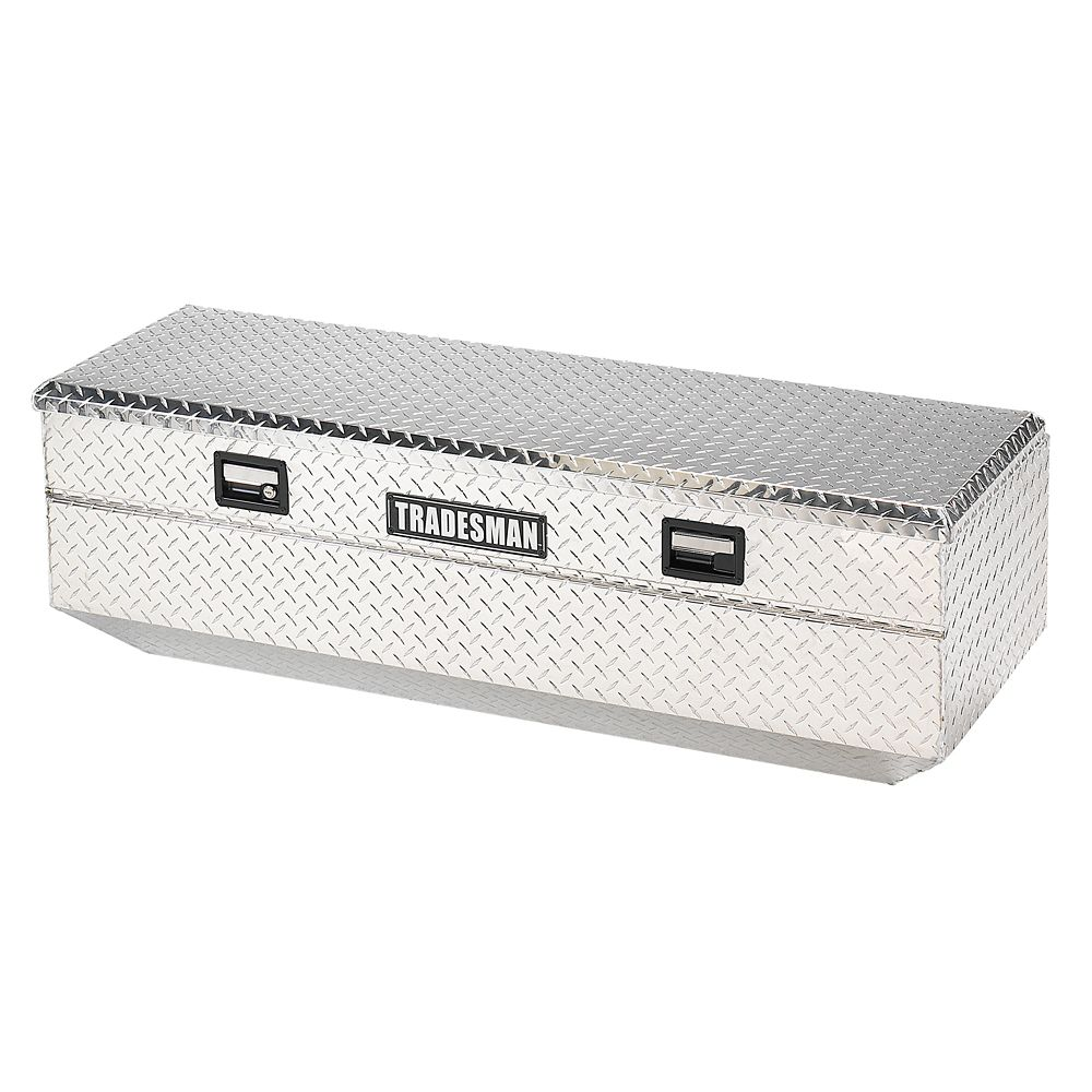 60  inch Flush Mount Truck Tool Box, Full Size, Single Lid, Aluminum
