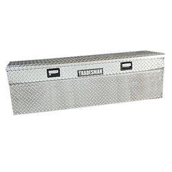 Tradesman Boîte à outils affleurante de 60 pouces pour camionnette, pleine longueur, couvercle simple, profil bas, aluminium