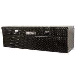 Tradesman Boîte à outils affleurante de 60 pouces pour camionnette, pleine longueur, couvercle simple, profil bas, aluminium, noir