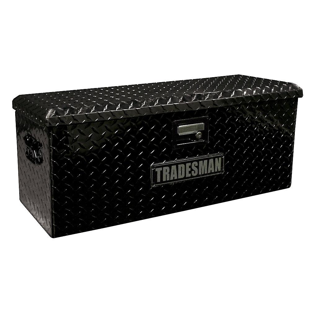 Caisse de rangement pour VTT de 32 pouces, aluminium, noir