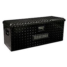 32 inch ATV Storage Box, Aluminum, Black
