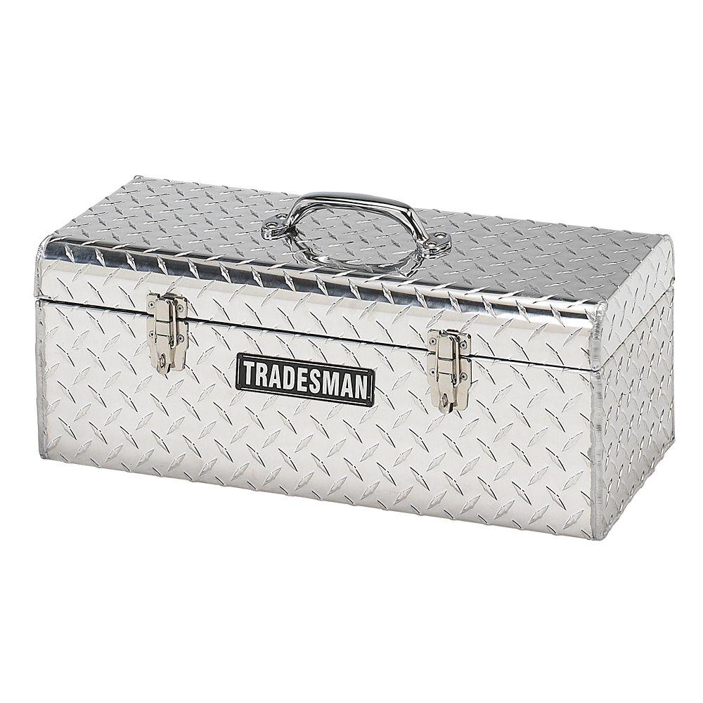 Boîte à outils portative de 24 pouces, aluminium