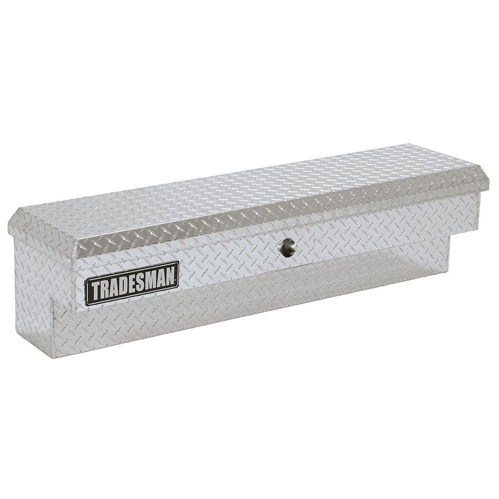 48  inch Side Bin Truck Tool Box, Full or Mid Size Single Lid, Push Button, Aluminum
