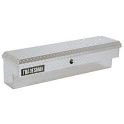 Tradesman Boîte à outils latérale de 48 pouces pour camionnette, pleine longueur ou intermédiaire, couvercle simple, bouton-poussoir, aluminium