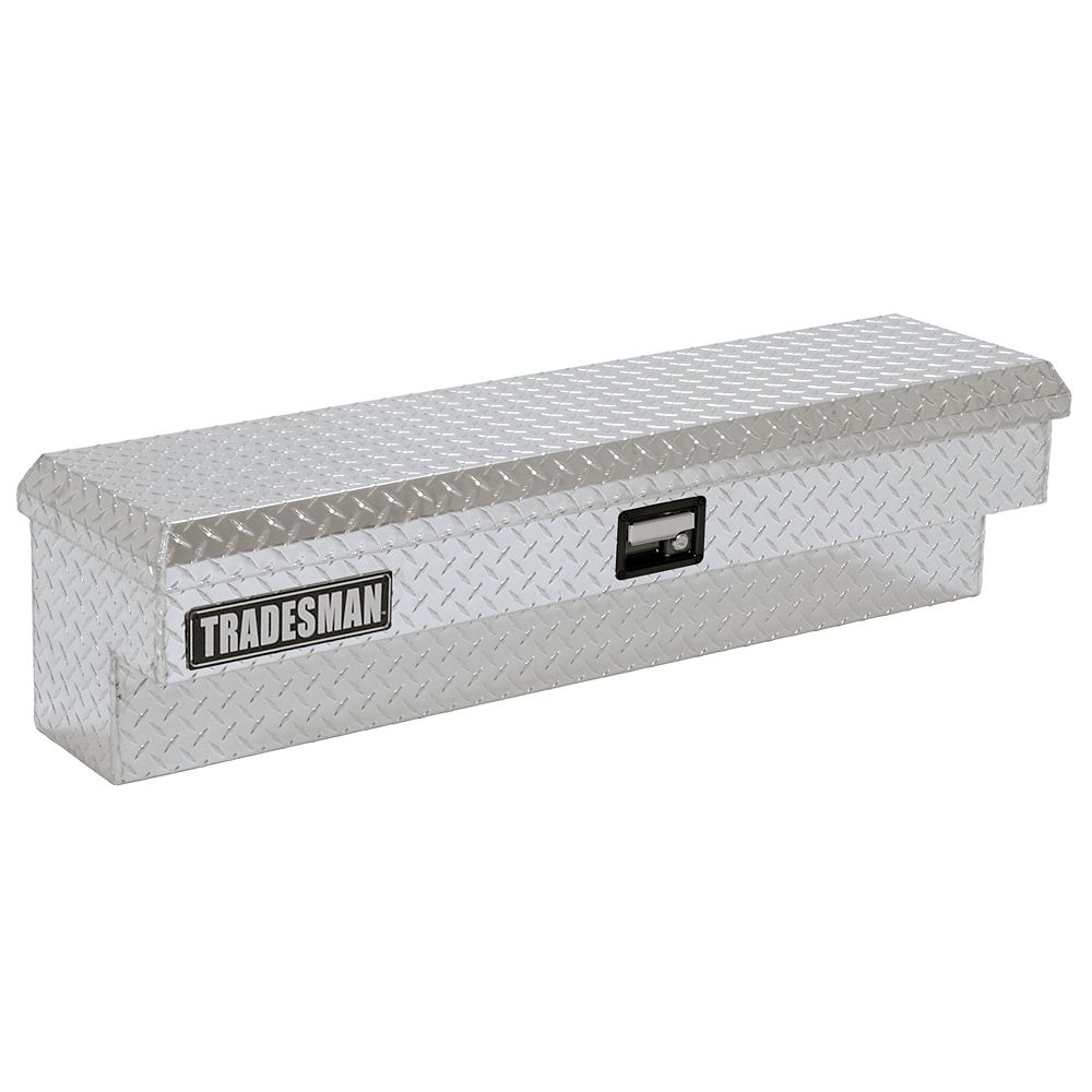 60  inch Side Bin Truck Tool Box, Full or Mid Size Single Lid, Aluminum