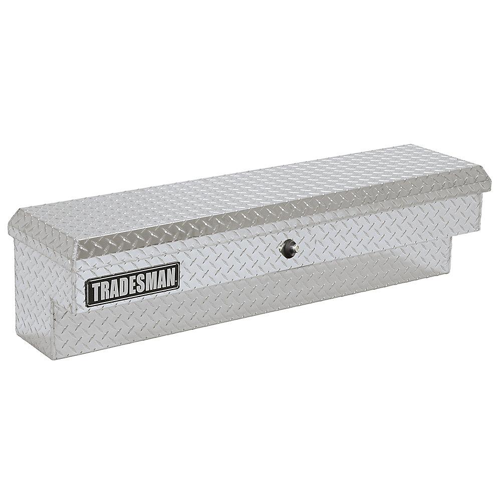 60  inch Side Bin Truck Tool Box, Full or Mid Size Single Lid, Push Button, Aluminum