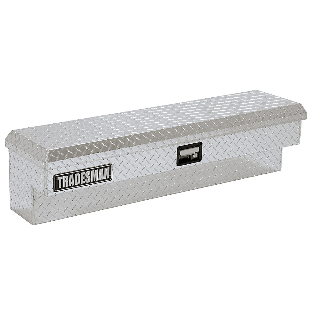 Boîte à outils latérale de 70 pouces pour camionnette, pleine longueur, couvercle simple, aluminium