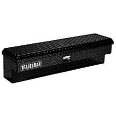 70  inch Side Bin Truck Tool Box, Full Size, Single Lid, Aluminum, Black