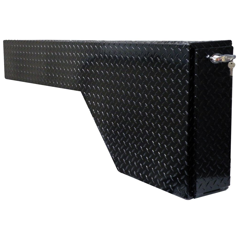 53  inch Fender Well Gun Box, Full Size, Aluminum, Black