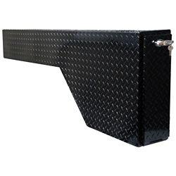 Tradesman 53  inch Fender Well Gun Box, Full Size, Aluminum, Black