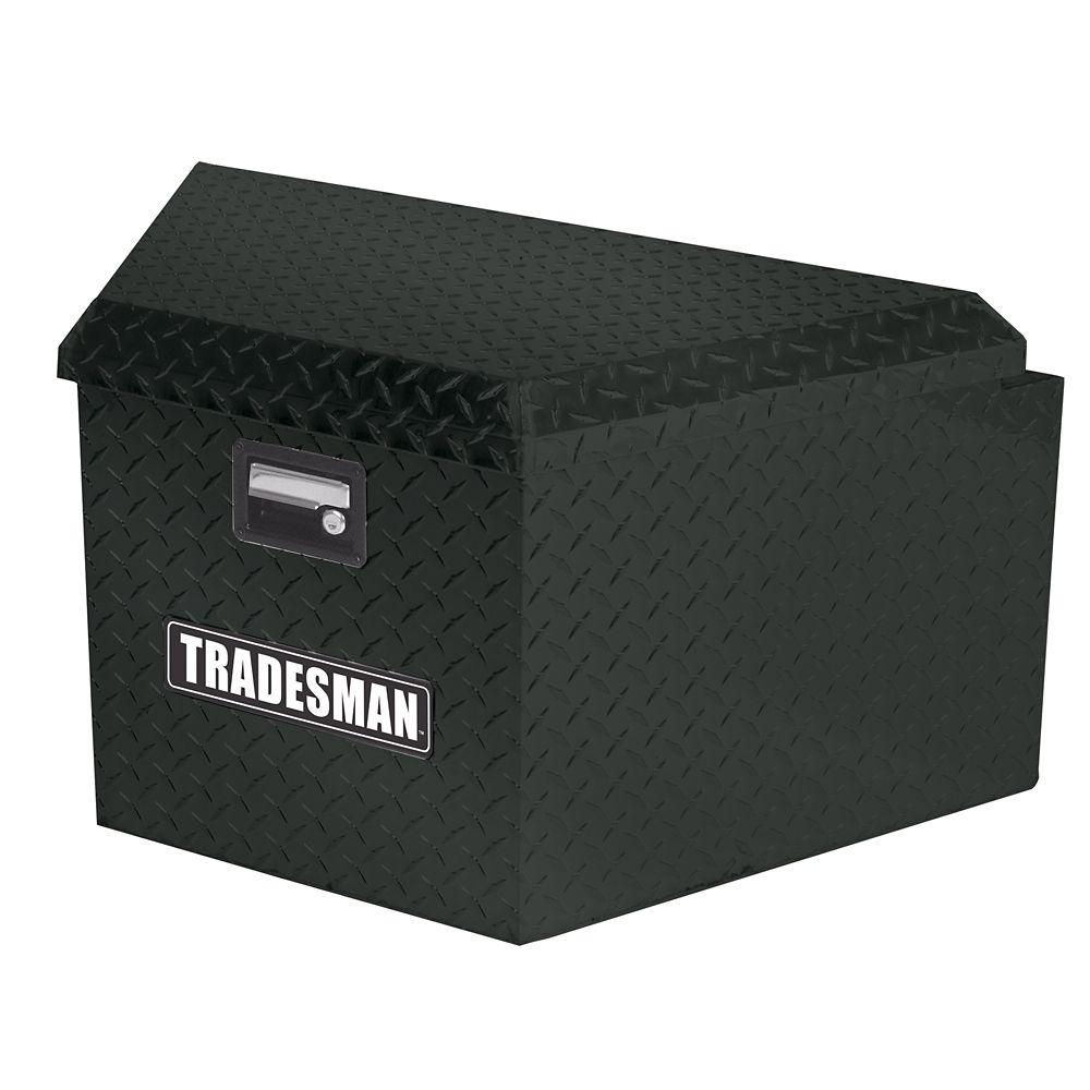 16  inch Trailer Tongue Box, Aluminum, Black