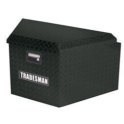 Tradesman 16  inch Trailer Tongue Box, Aluminum, Black