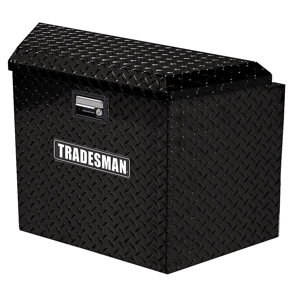21  inch Trailer Tongue Box, Aluminum, Black
