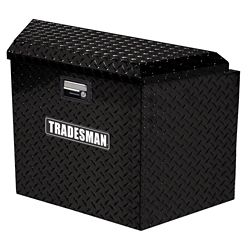 Tradesman 21  inch Trailer Tongue Box, Aluminum, Black