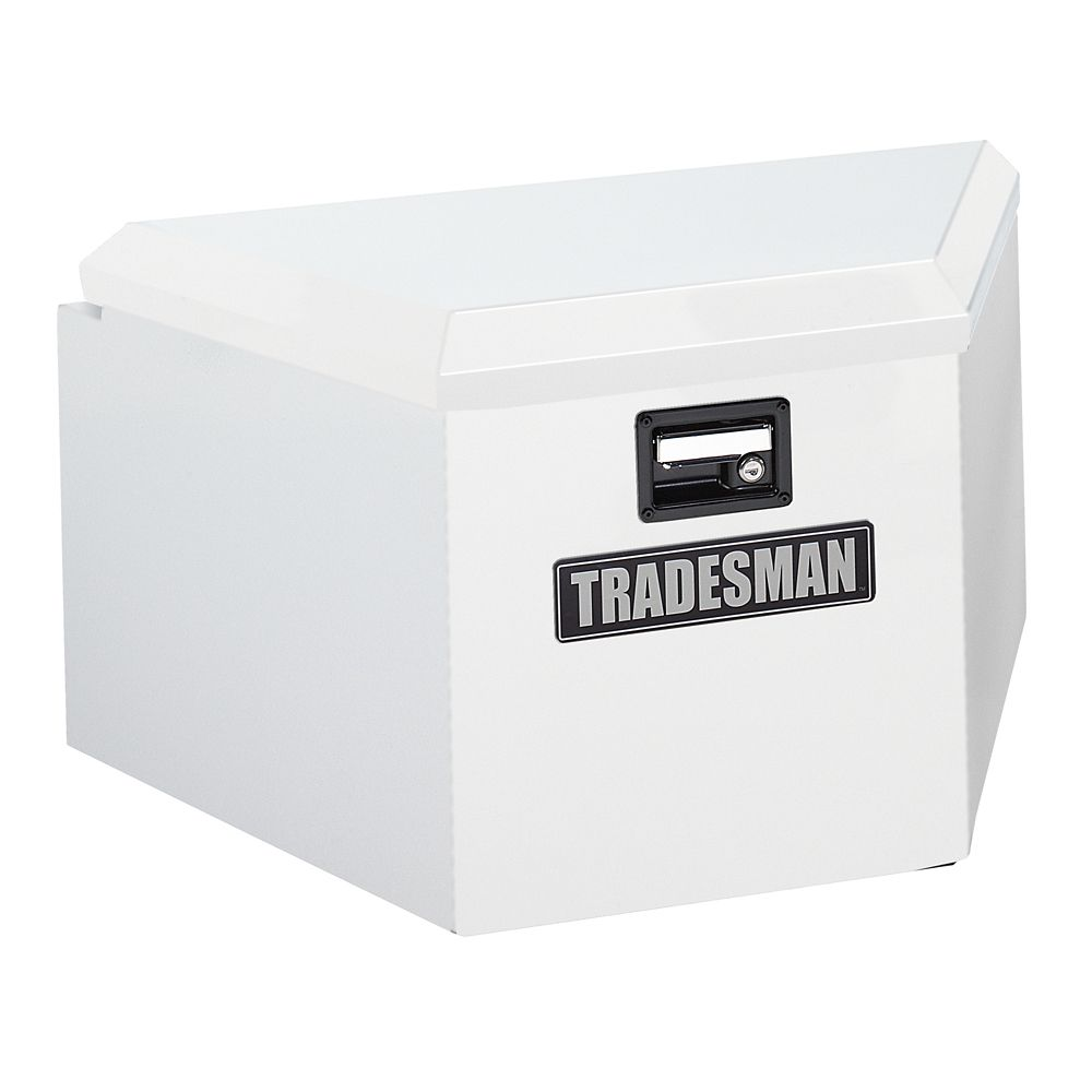 16  inch Trailer Tongue Box, Steel, White