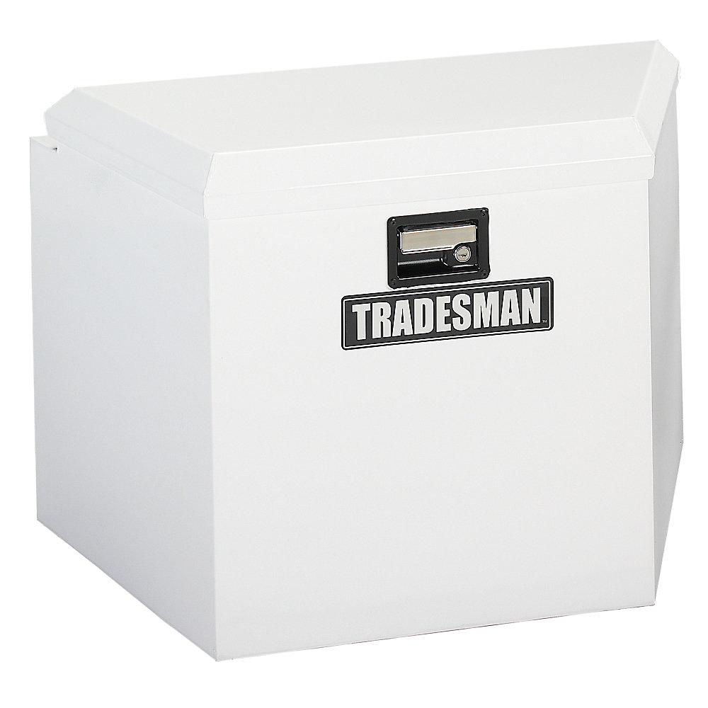 21  inch Trailer Tongue Box, Steel, White