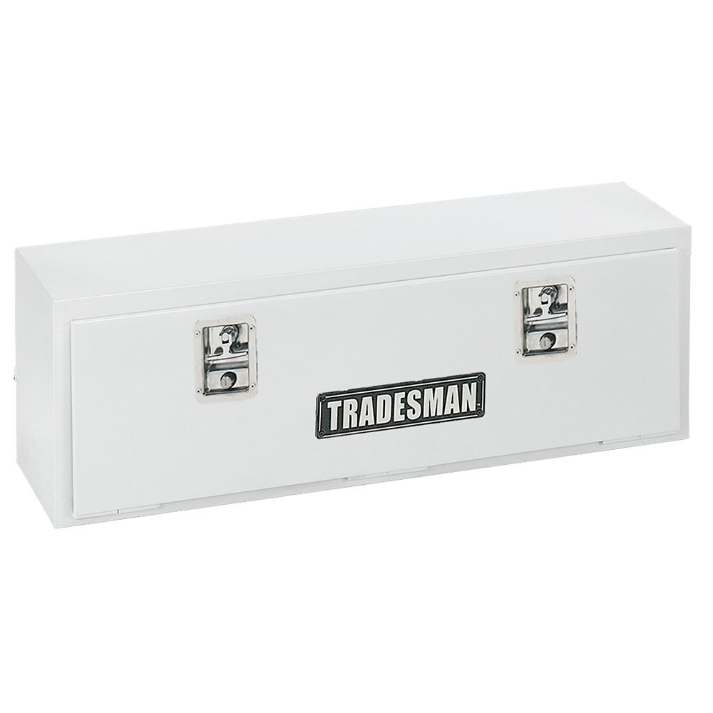 48  inch Top Mount Truck Tool Box, Steel White