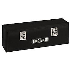Boîte à outils de 48 pouces à montage supérieur pour camionnette, acier, noir