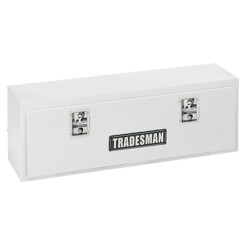 72  inch Top Mount Truck Tool Box, Steel White