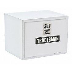 24  inch Underbody Truck Tool Box, Steel, White