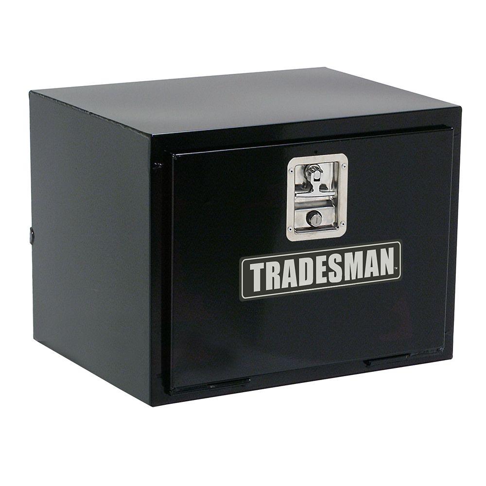 Boîte à outils de 24 pouces pour dessous de carrosserie, acier, noir