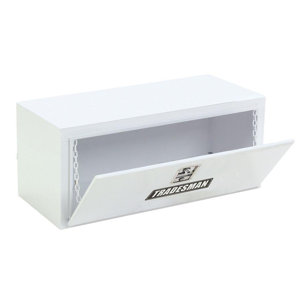 Boîte à outils de 48 pouces pour dessous de carrosserie, acier, blanc