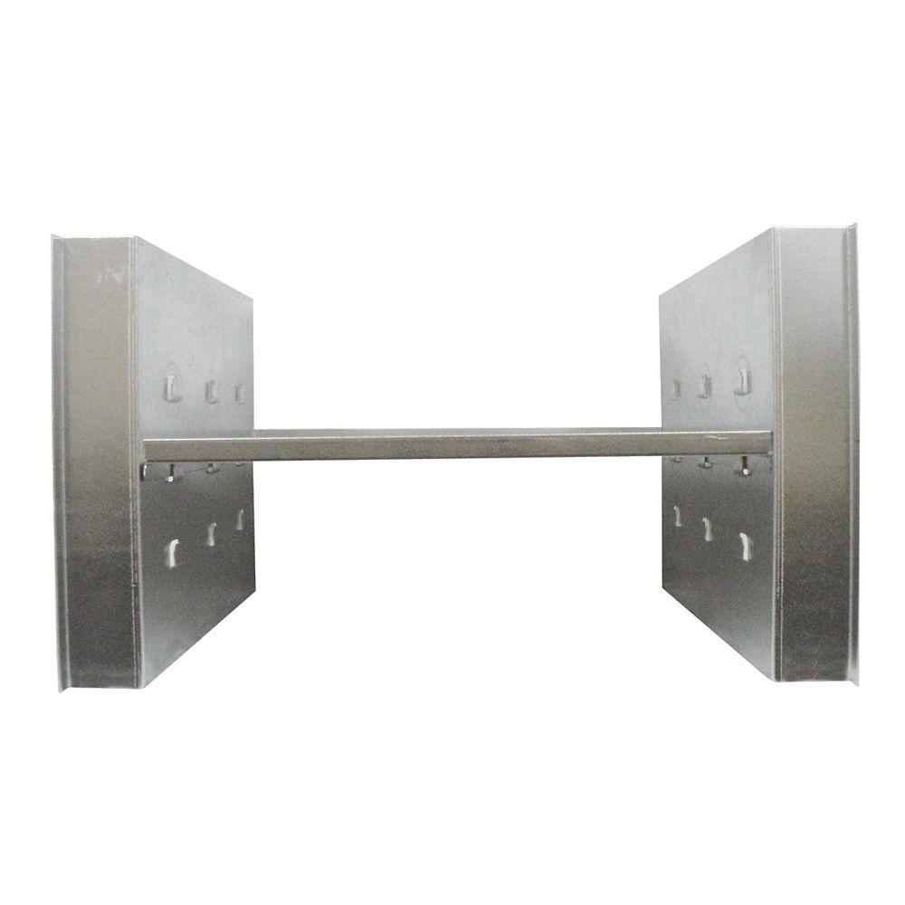 24  inch Adjustable Underbody Tray, Galvanized