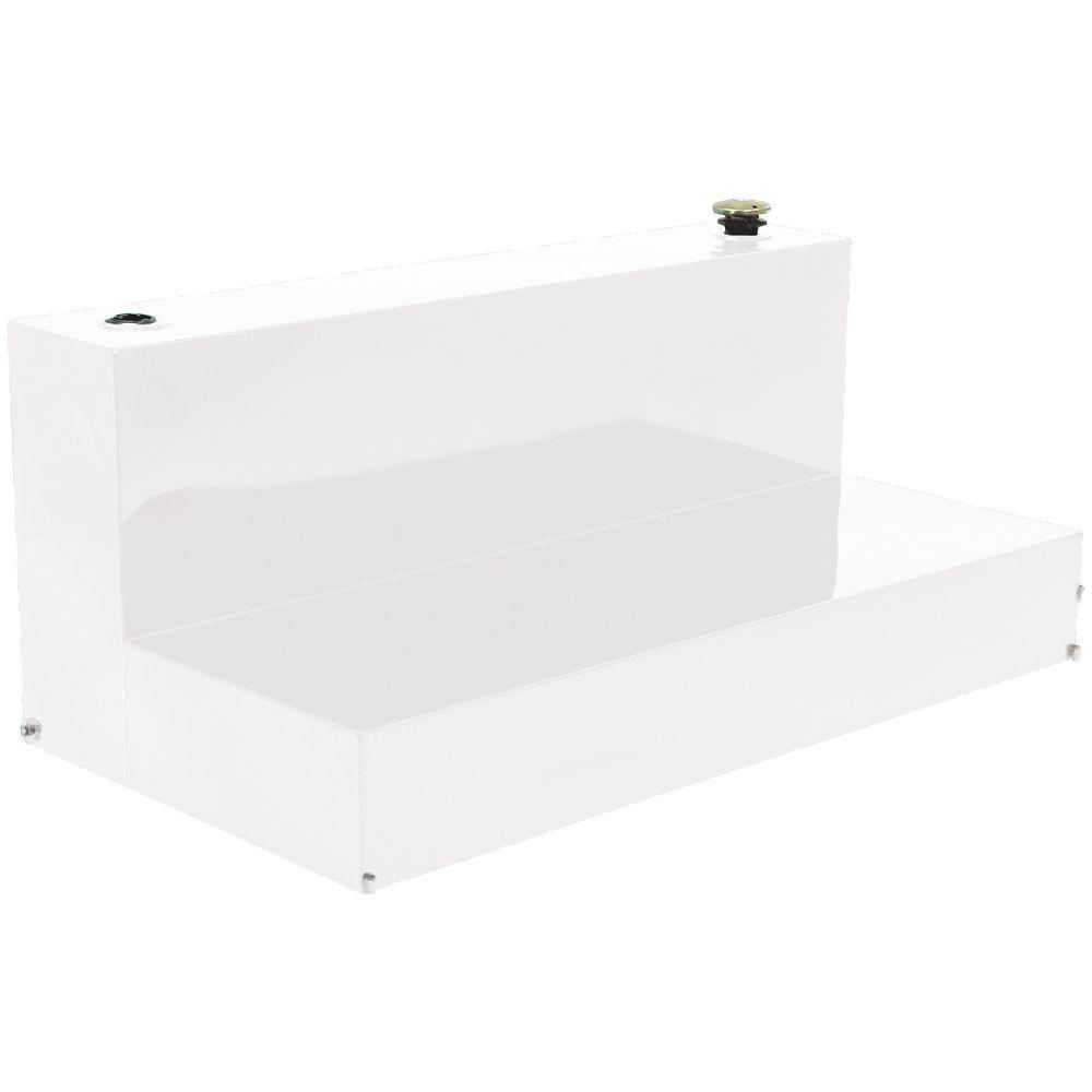Full Size L Shape Storage Tank, White (80 Gallons)