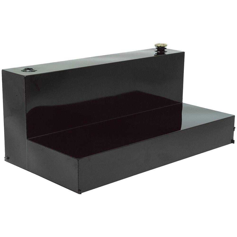 Réservoir en L, pleine longueur, noir (80 gallons)