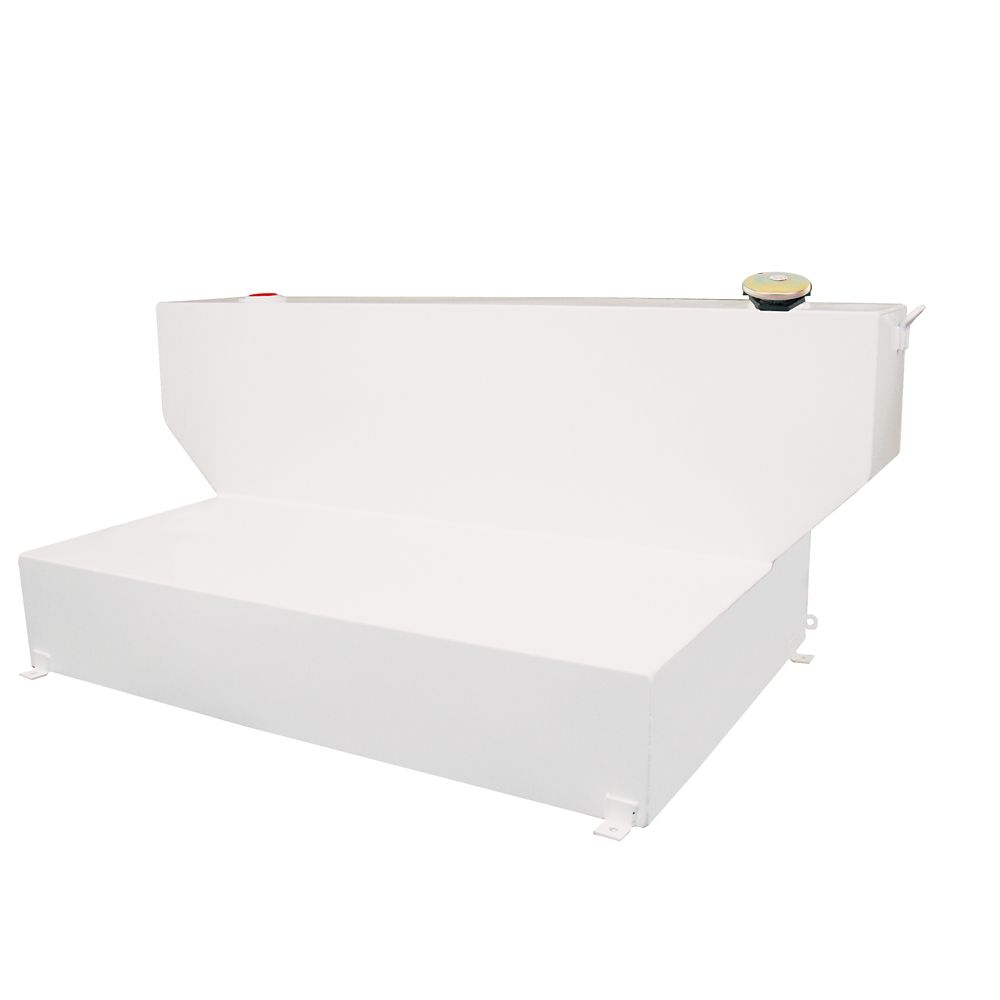 Full Size L-Shape Storage Tank for Crew Cabs, White (100 Gallons)