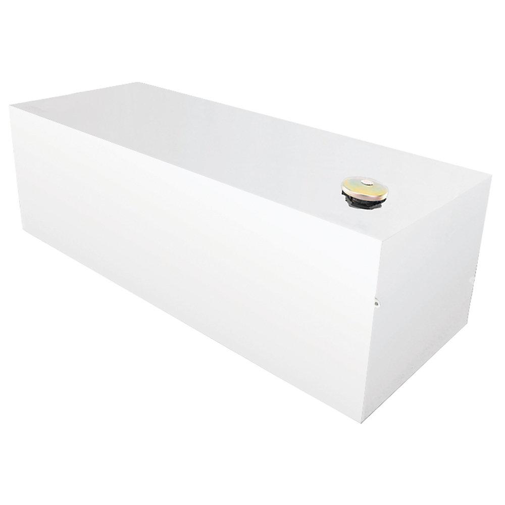 Réservoir rectangulaire, pleine longueur, blanc (98 gallons)