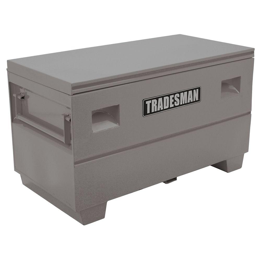 Heavy Duty Medium 48  inch Job Site Box, Steel, Grey