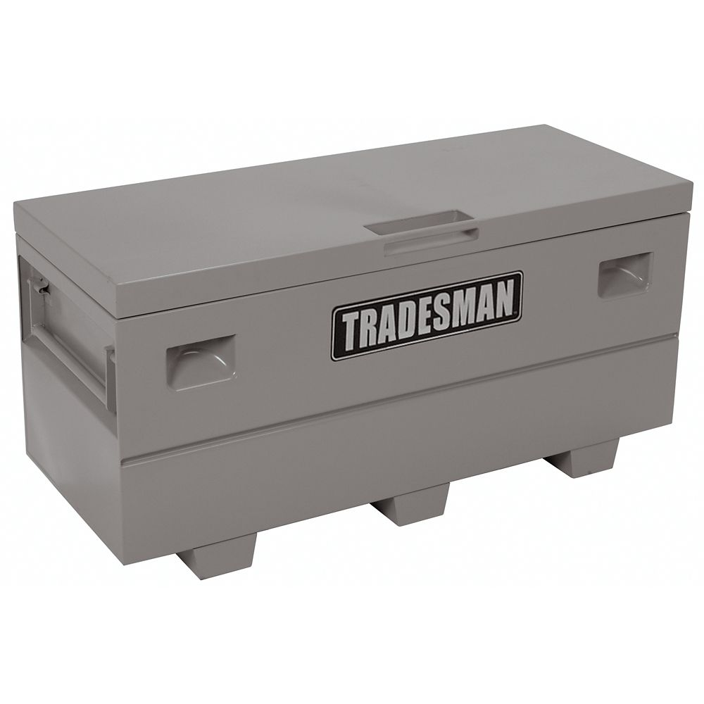 Heavy-Duty Large 60  inch Job Site Box, Steel, Grey