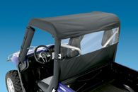 WindStopper - Solid - Black Nylon with Clear Vinyl Window - Polaris Ranger Full Size