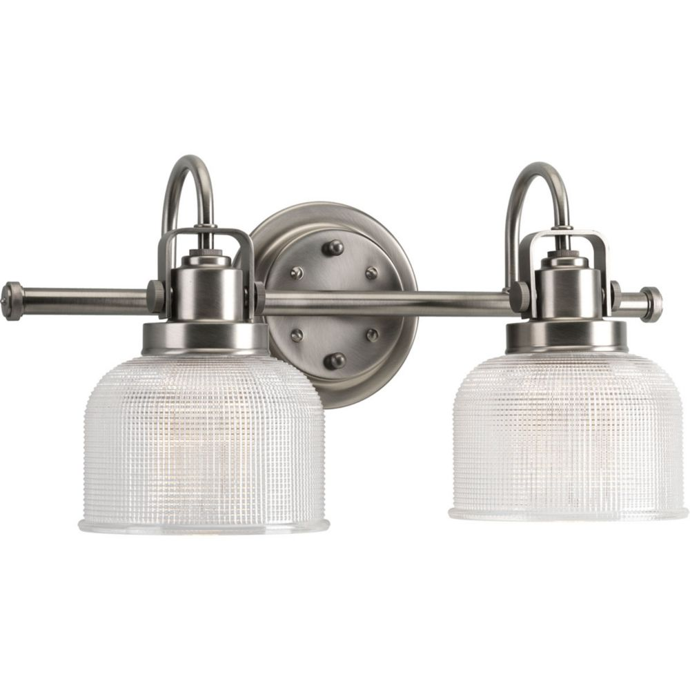 Progress Lighting Archie Collection 2-light Antique Nickel Bath Light