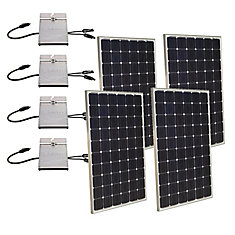 1,000-Watt Expandable Monocrystalline PV Grid-Tied Solar Power Kit