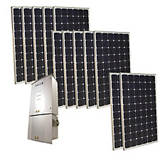 3,000-Watt Monocrystalline PV Grid-Tied Solar Power Kit