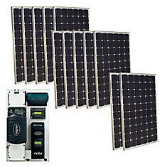 3,000-Watt Monocrystalline PV Off-Grid Solar Power Kit