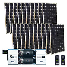 5,000-Watt Monocrystalline PV Off-Grid Solar Power Kit