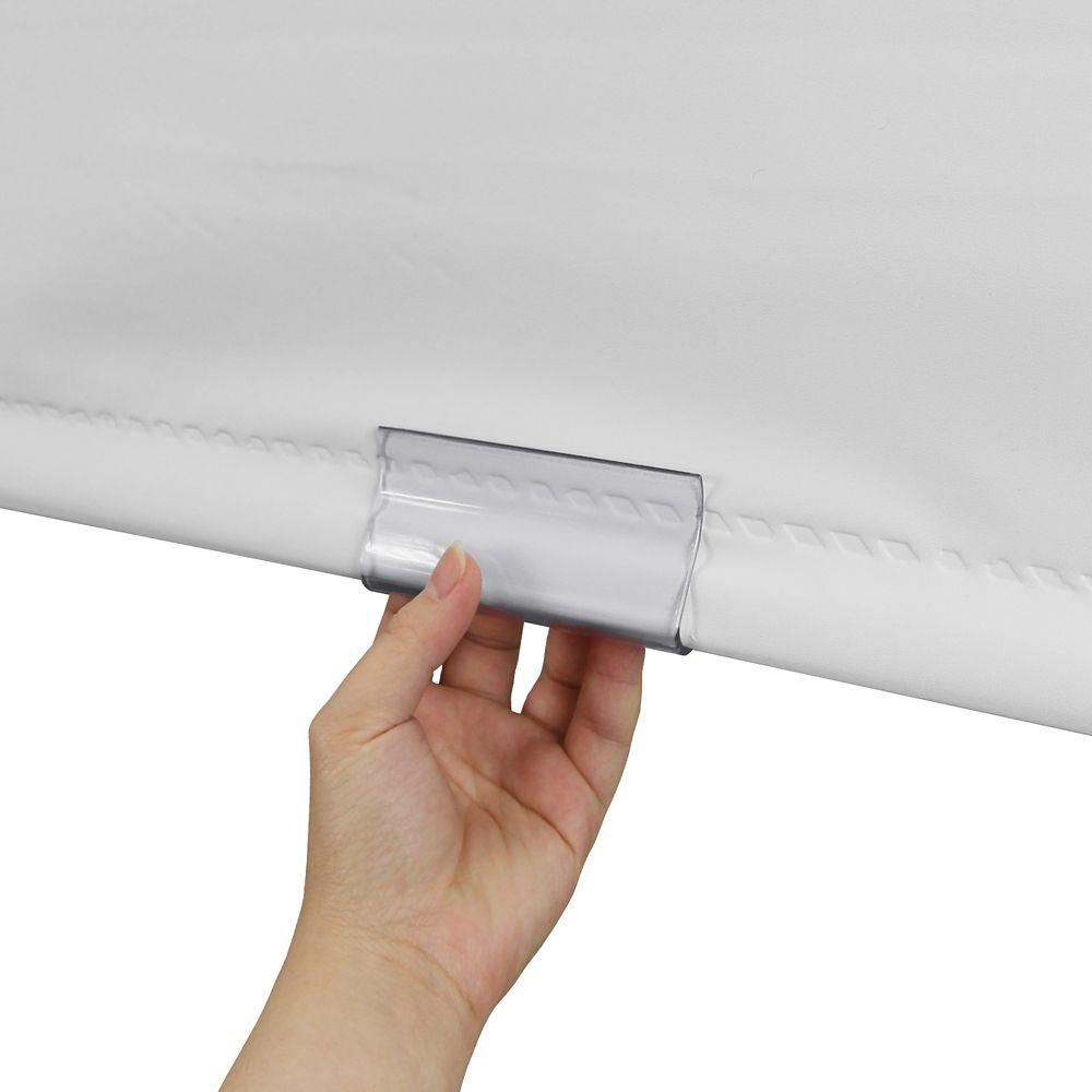 Attache ourlet de toile à rouleau - transparente