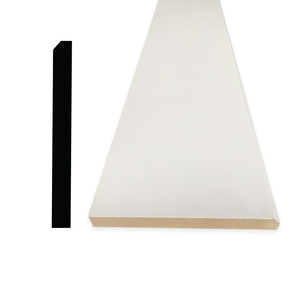 Primed Fibreboard Base 5/8 Inches x 5-1/2 Inches x 96 Inches