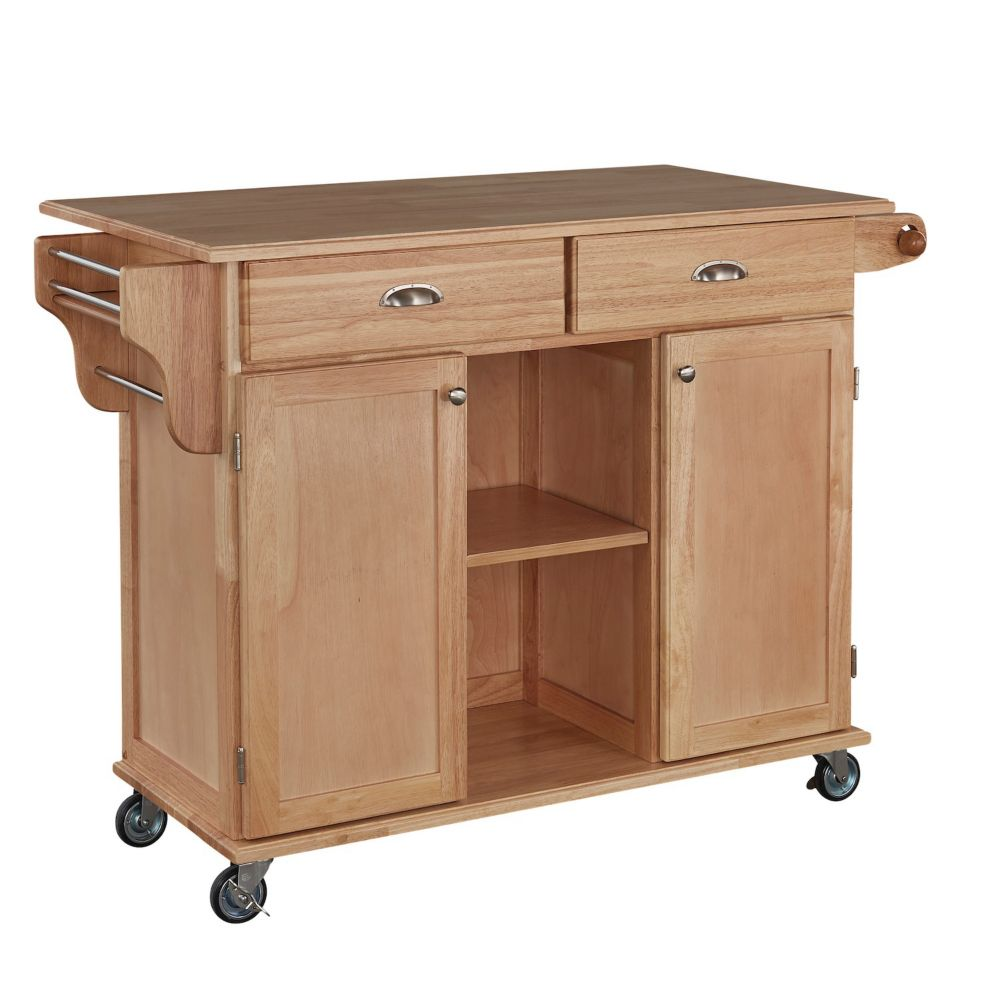 Danville Kitchen Cart Oak Finish 5257-95 Canada Discount