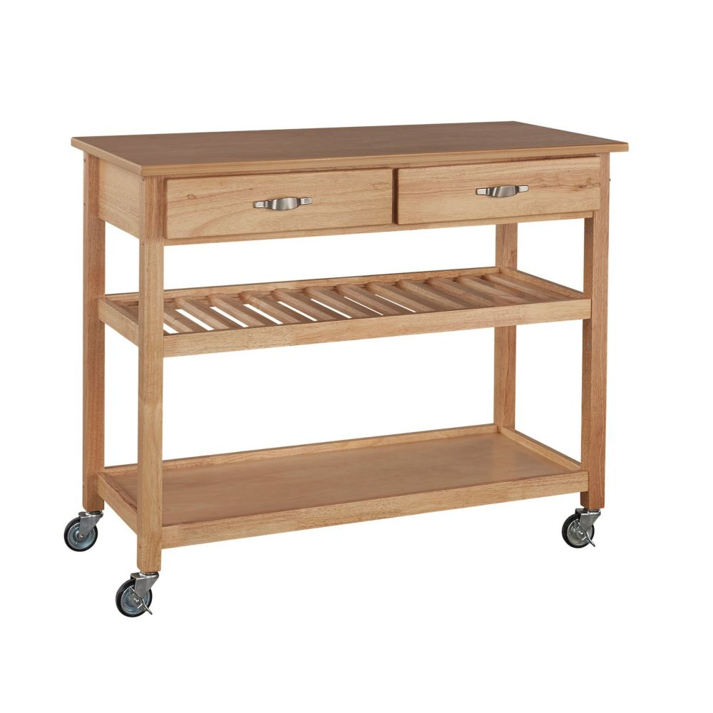 Home styles natural designer utility cart the home depot canada Home styles natural designer utility cart