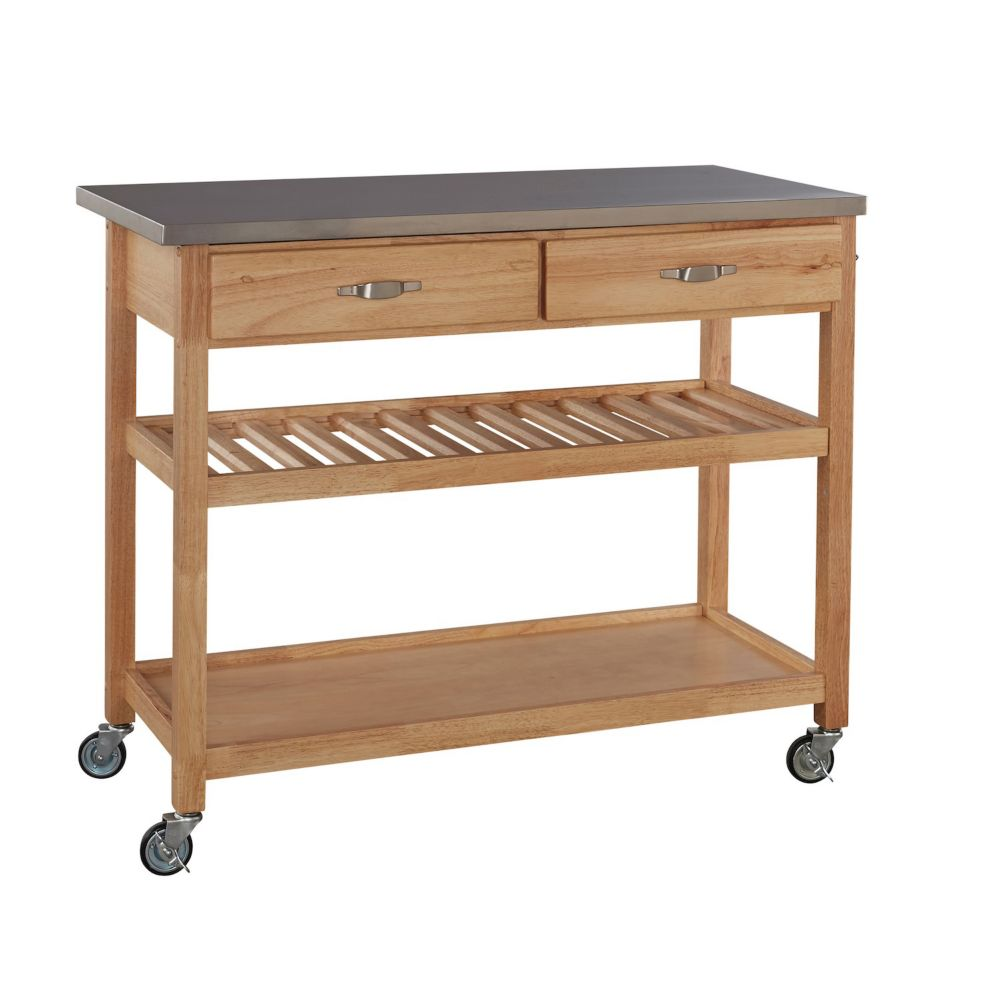 Home Styles Stainless Steel Top Kitchen Cart The Home Depot Canada