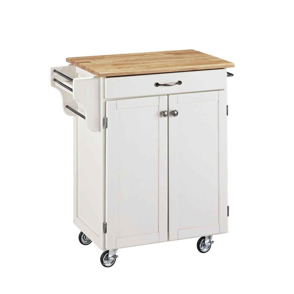 Create A Cart White With Wood Top