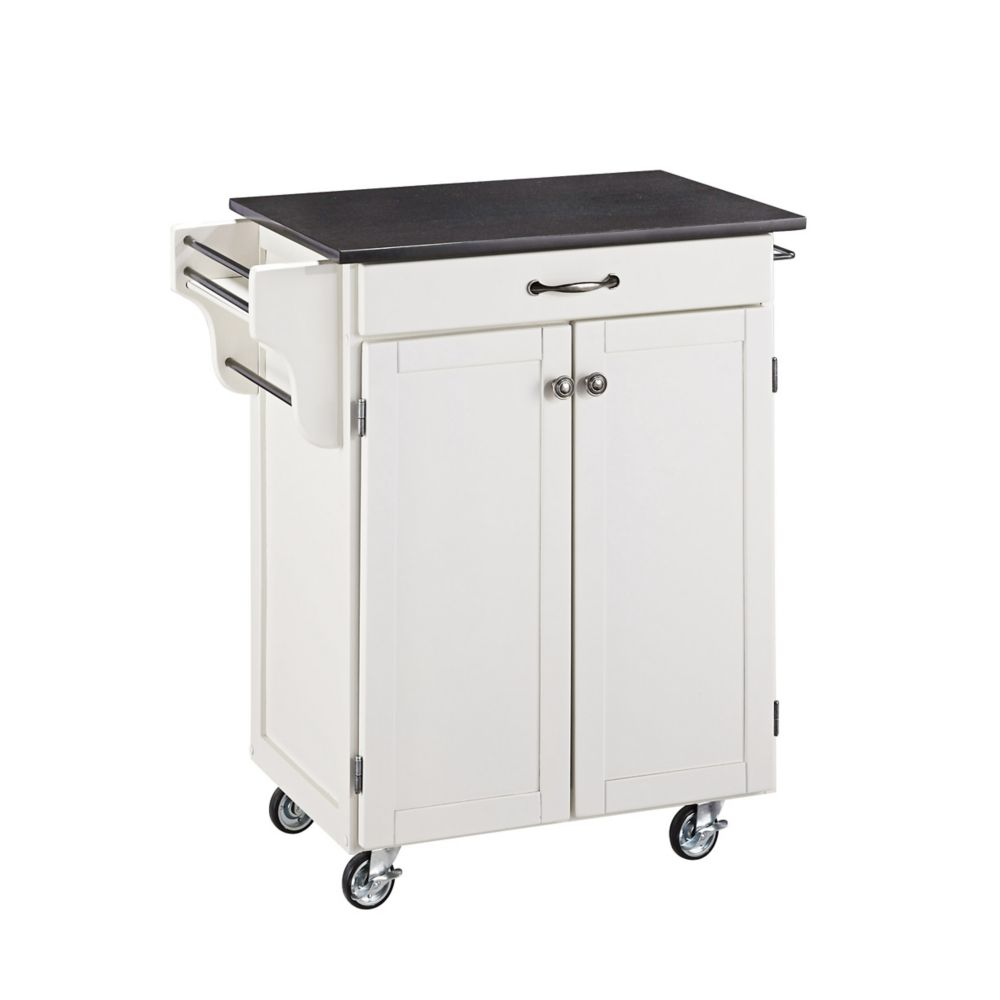 White Create A Cart With Black Granite Top 9001-0024 Canada Discount