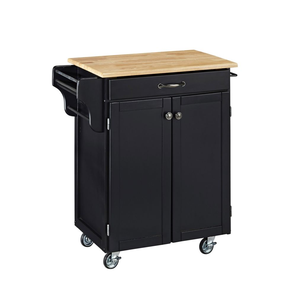 Create A Cart Black With Wood Top
