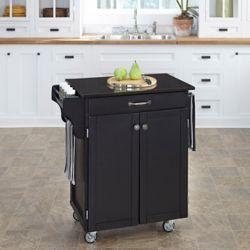Create A Cart Black With Black Granite Top
