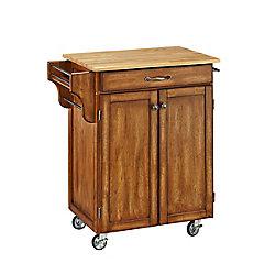 """Create A Cart Chariot de cuisine """"Cottage Oak""""  dessus bois"""